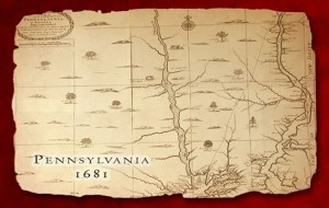 PA Map in the year 1681
